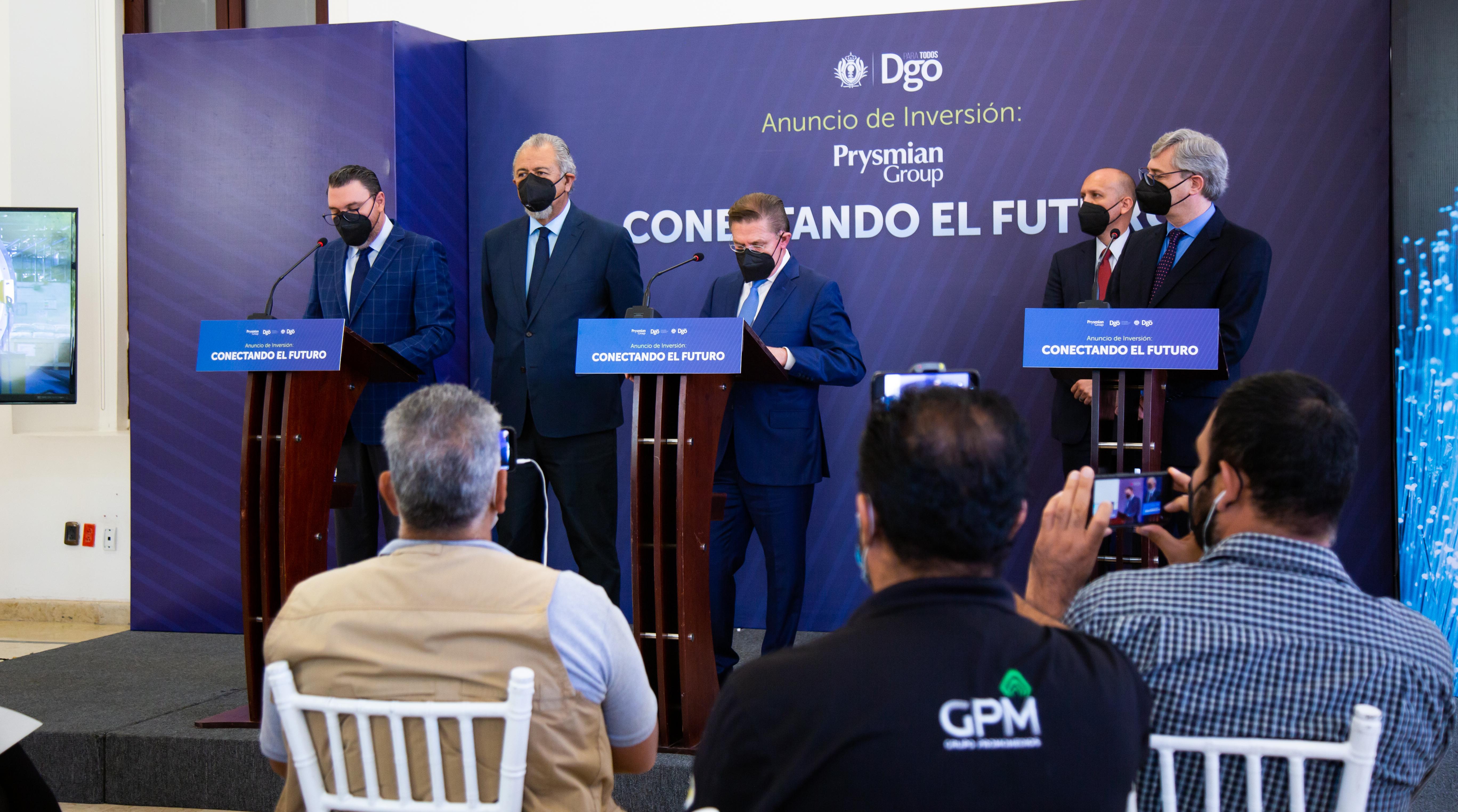 GRUPO PRYSMIAN ANUNCIA INVERSION DE 27 MDD PARA EXPANSIÓN  DE PLANTA DE FIBRA OPTICA EN DURANGO